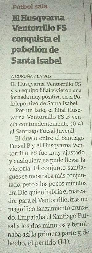 LA VOZ DE GALICIA 15-9-2014 HUSQVARNA VENTORRILLO