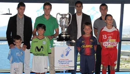 FOTO PRESENTACIÓN SUPERCOPA DE ESPAÑA FUTBOL SALA 2012