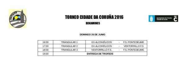 TORNEO CIDADE CORUÑA BENJAMINES 2016